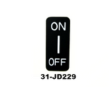 Hazard switch decal for Datsun 240Z series 1