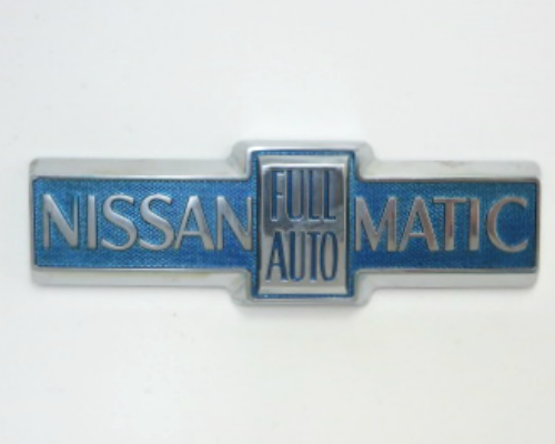 """Nissan Full Auto Matic"" emblem for Datsun / Nissan cars with Automatic Transmission"
