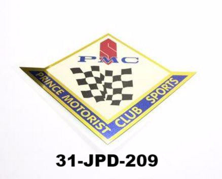 PMC (Prince Motorist Club) Large / Small decal for Prince cars
