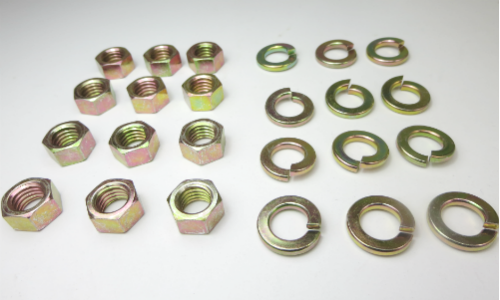 M10 nut and lock washer for front and rear strut tower, set of 12 for Japanese vintage cars