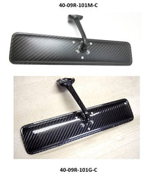 Dry Carbon Fiber Rear View Mirror with Curved Mirror Glass by 09 Racing for Nissan Skyline Hakosuka