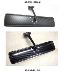 Dry Carbon fiber rear view mirror with curbed mirror glass by 09 Racing for Nissan Skyline Hakosuka