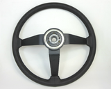Restored steering wheel for Datsun 260Z and 280Z, leather wrapped