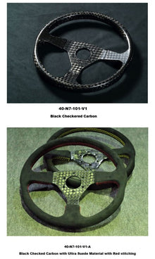 Number 7 Performance Dry Carbon steering wheel Version 1 Checkered Pattern