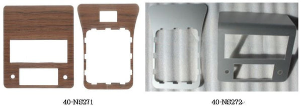 Center console panel kit for Skyline Kenmeri Wood / Aluminum