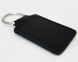 Bob Sharp Racing leather key fob