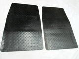 Vintage style rubber floor mat set for most Datsun/Nissan cars