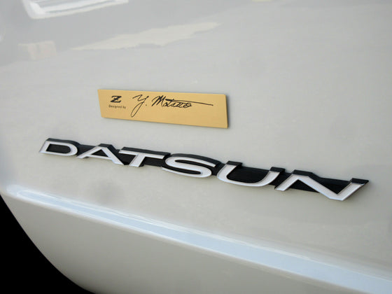 """'Z' Designed by Y. Matsuo"" Emblem for 240Z 260Z 280Z Enthusiasts"