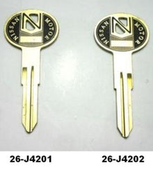 Original finish Blank key for Datsun 240Z 260Z 280Z BLEM UNITS SALE!!