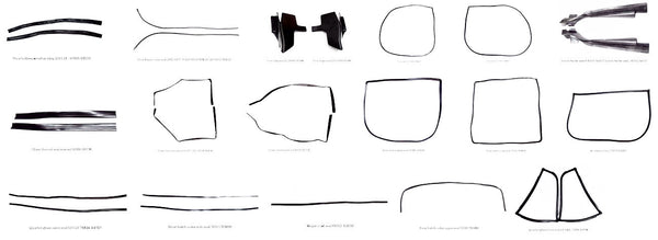 Weatherstrip kit for Datsun 240Z / 260Z / 280Z  Coupe 27-pc set Economy package