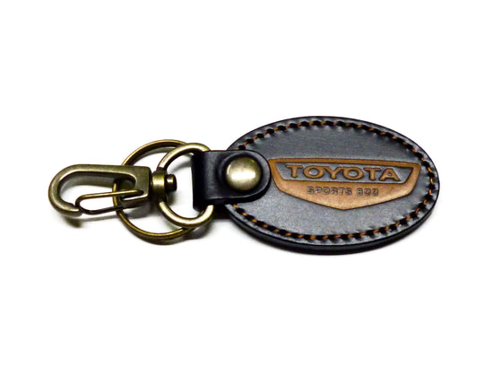 Toyota Sports 800 Brown leather key fob / key ring / key chain
