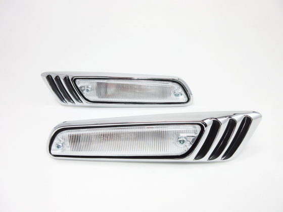 Nissan Laurel C130 front side light set with clear lens for Skyline Kenmeri