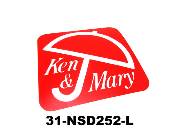 Ken and Mary Decal for Nissan Skyline Kenmeri S / M / L
