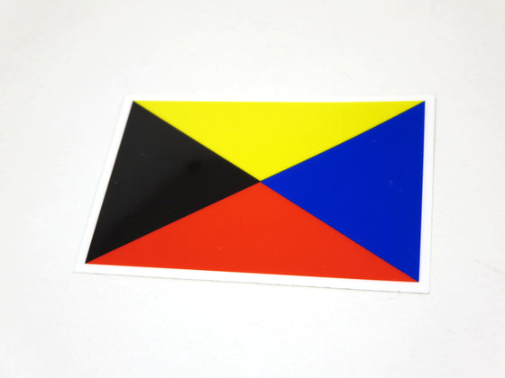 """Z"" Flag Decal for Datsun Z Enthusiasts"