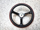 "Datsun competition steering wheel with ""Datsun"" Horn Pad for Datsun 240Z 260Z 280Z 510 Skyline and more"