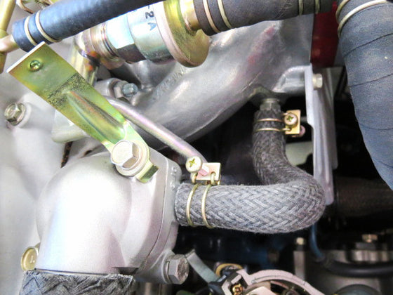 Thermostat to carb & carb to bypass braided hose for Datsun 240Z