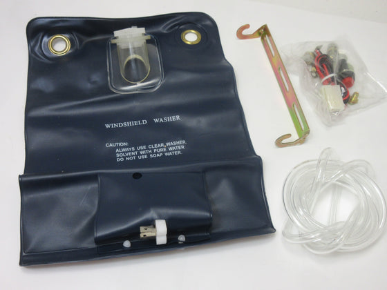 Windshield Washer bag Assembly Blk Reproduction for all vintage Nissan / Datsun Cars & Trucks