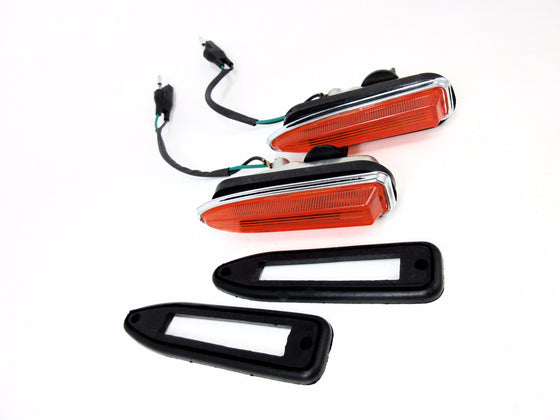 Nissan Skyline Hakosuka 1969 front side marker light set