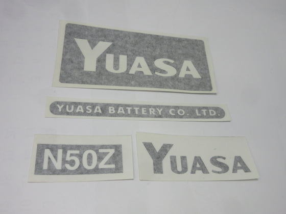 Yuasa Battery Replica Decal Kit for Datsun 240Z, 260Z, 280Z