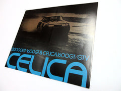New car brochure for Toyota Celica LB2000GT 1600GT 1600GT/GTV