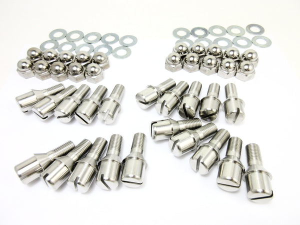 Toyota 2000GT wheel center hub bolt set Reproduction in stainless steel