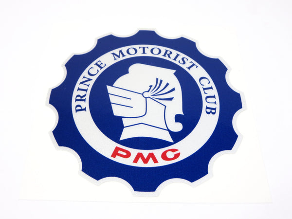 PMC (Prince Motorist Club ) round decal for Prince cars