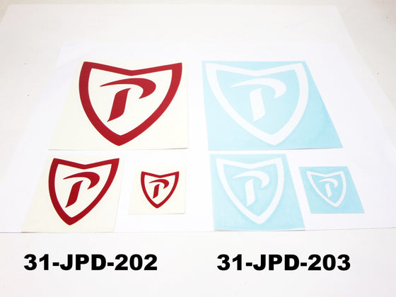 """P"" decal 3 pc set for Prince vehicles"