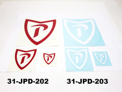 """P"" decal 3 pc set for Prince cars"