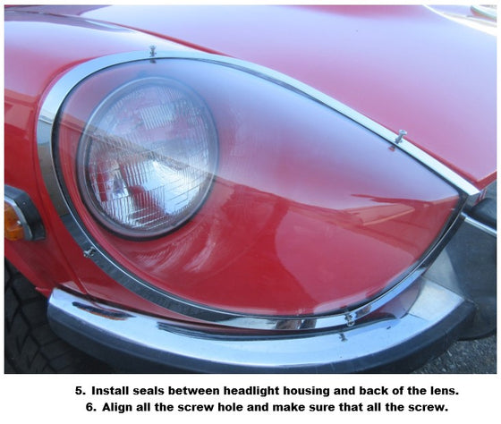 Datsun 240Z 1965 Prototype Design Flat Mount Headlight Cover Set
