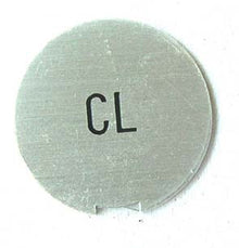 "Aluminum plate ""CL"" or ""Choke""for 1969 Skyline"