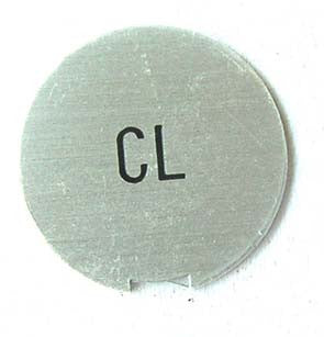 "Cigarette Lighter ""CL"" aluminum plate for 1969 early Skyline (Hakosuka)"