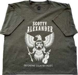 Defending Country Music Army Green Tee