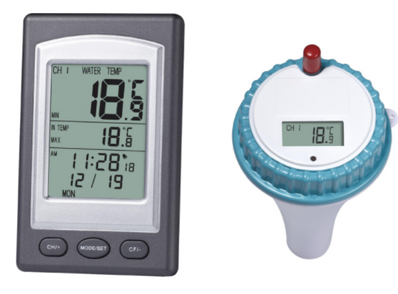 Wireless Indoor and Outdoor Pool Spa Hot Tub Thermometer