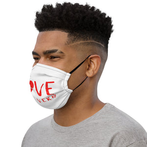 Love is a Verb Premium Face Mask
