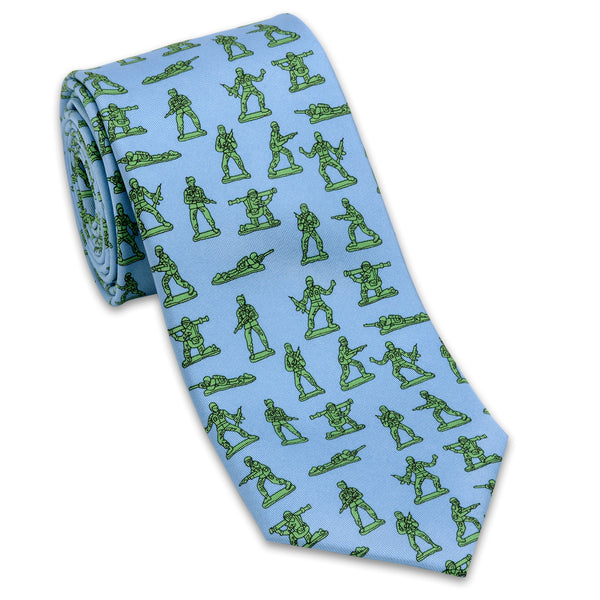 Army Toy Soldiers Silk Necktie