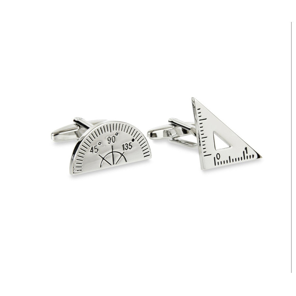 Protractor and Triangle Cufflinks