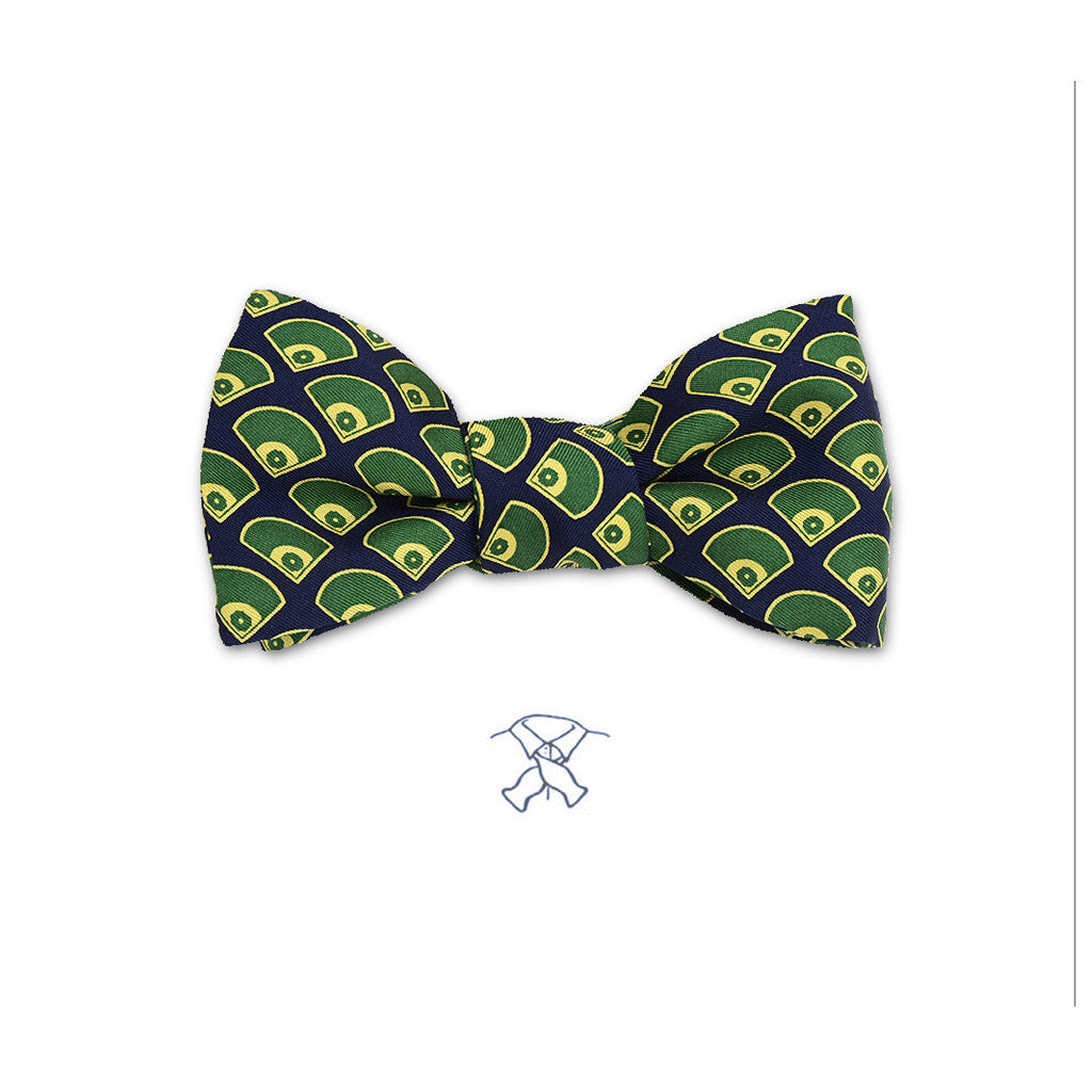 Baseball Fields Bow Tie