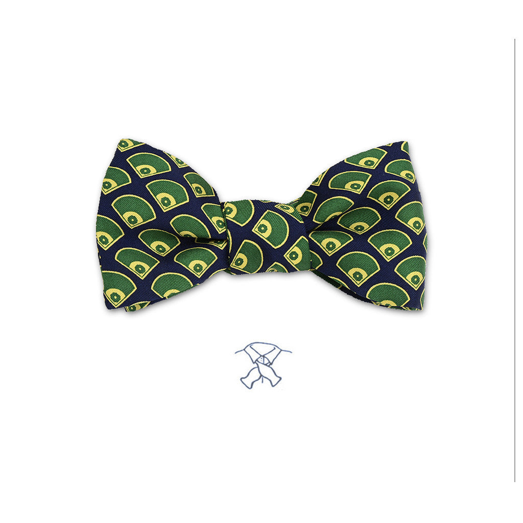 Baseball Fields Bow Tie - Boys