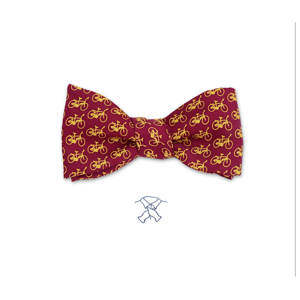 Bicycles in Motion Bow Tie