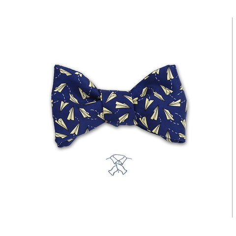 Paper Airplanes Bow Tie - Boys