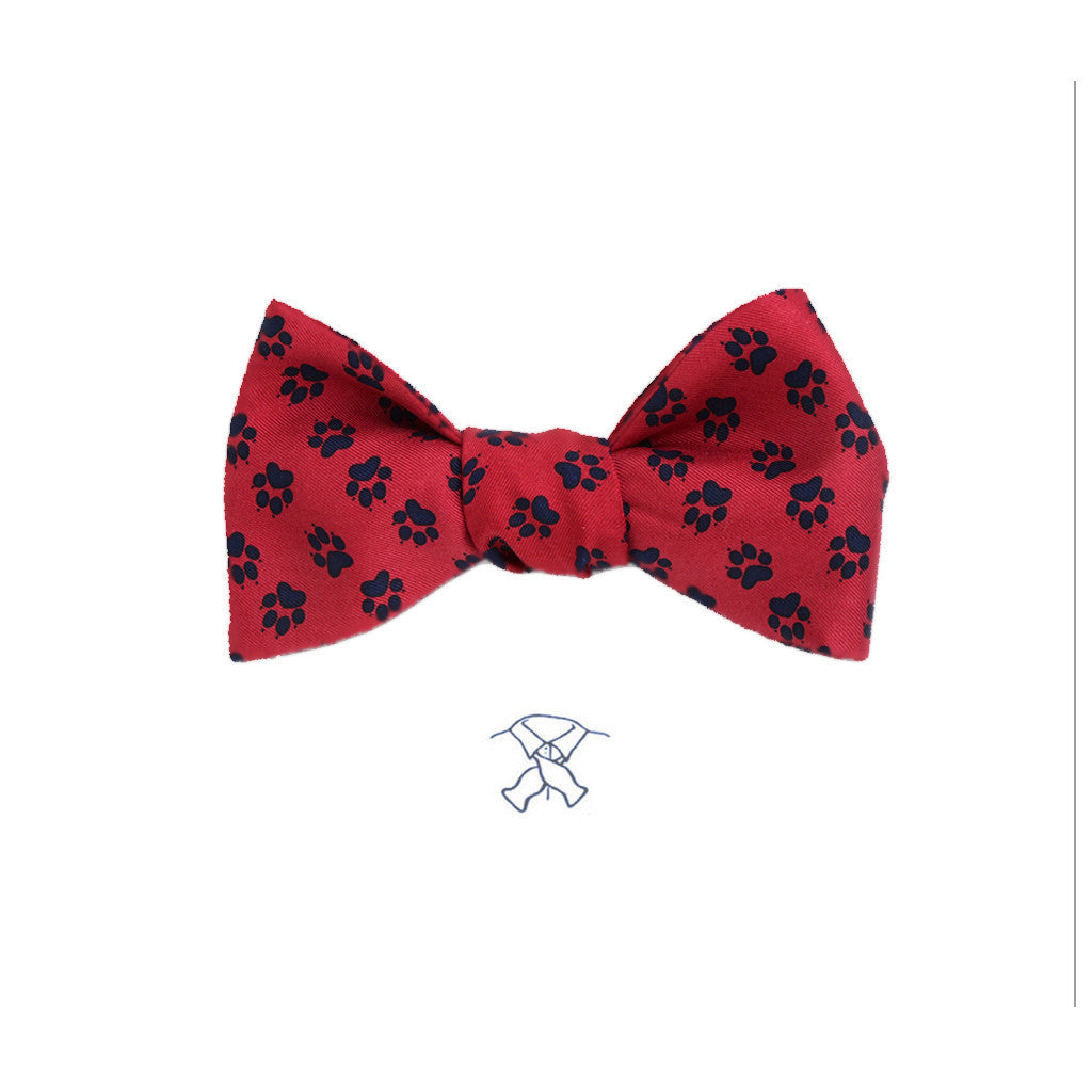 Paw Prints Bow Tie - Boys