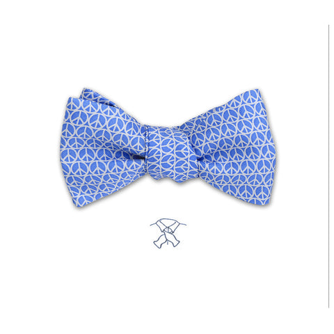 Peace Sign Bow Tie