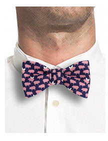 Flying Pig Bow Tie