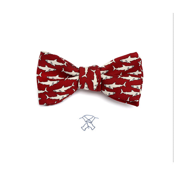 Sharks Swimming Bow Tie