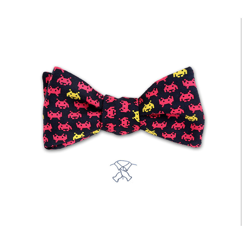 Space Invaders Bow Tie - Boys