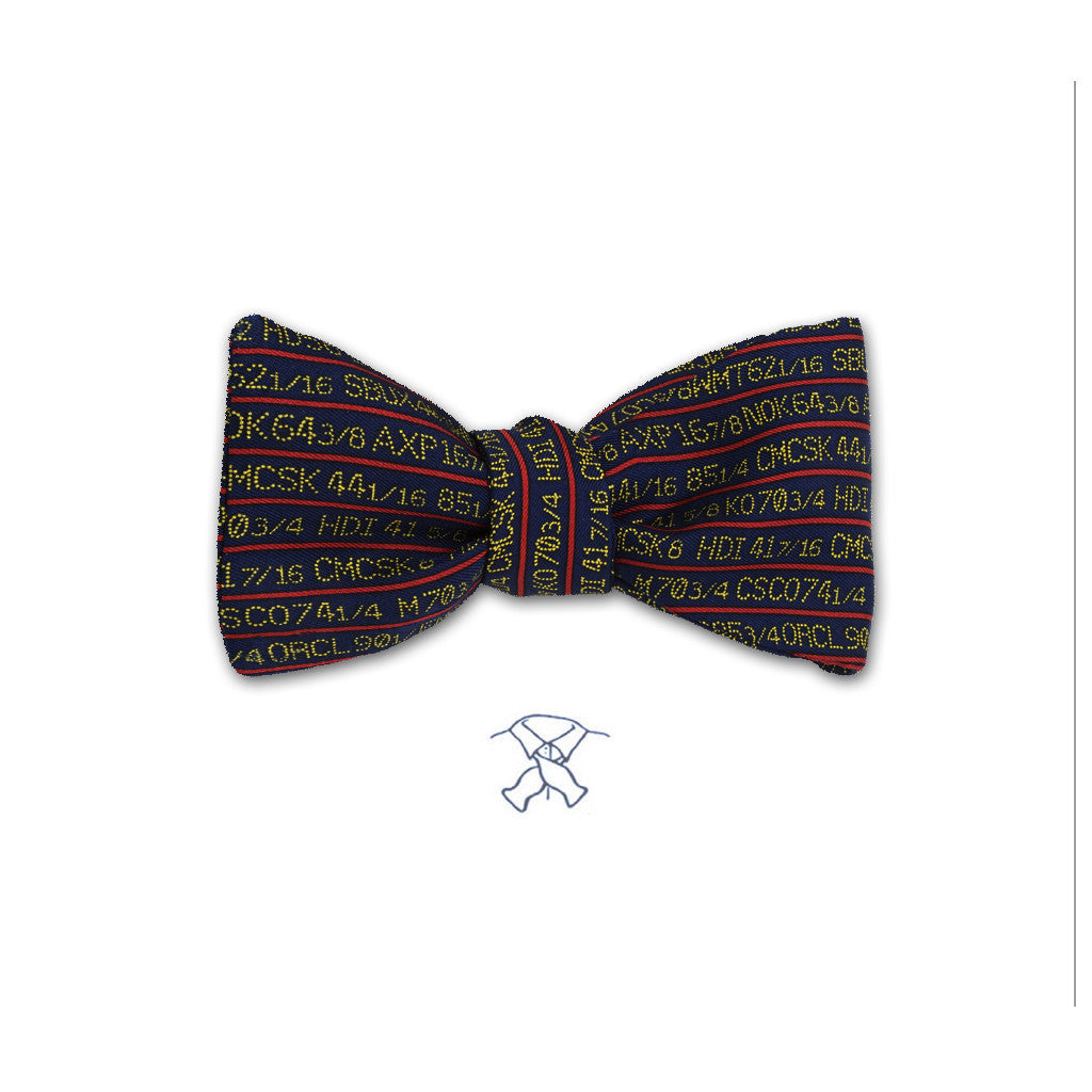 Stock Ticker Bow Tie - Boys