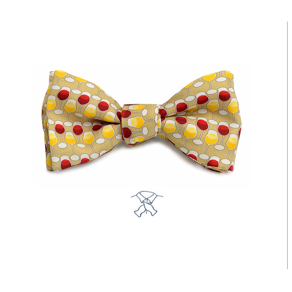 Wine Glasses Bow Tie
