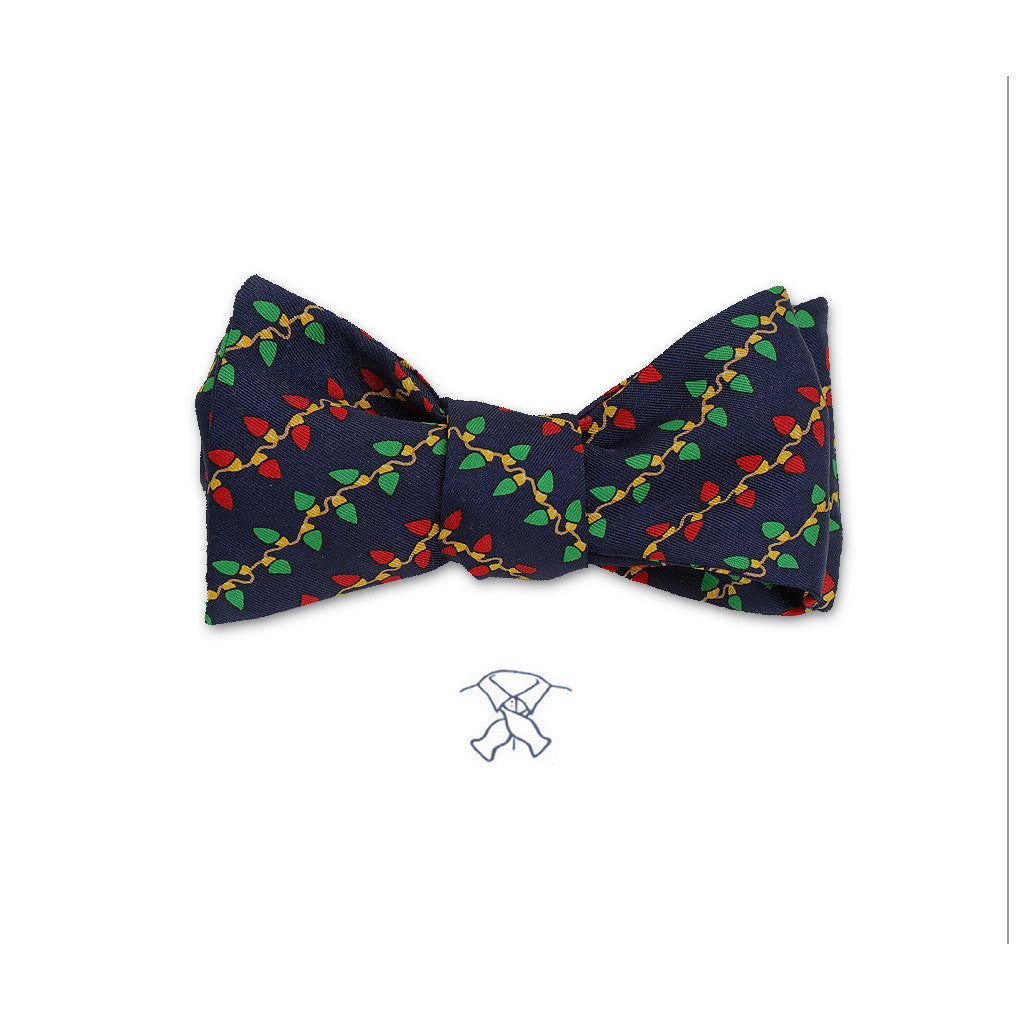 Christmas Lights Bow Tie