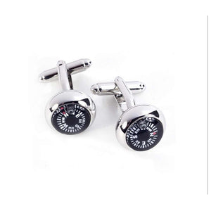 Compass Cufflinks (functional!)