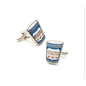 Greek Coffee Cup Cufflinks